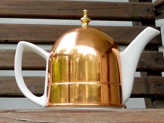 Vintage Teapot Copper Tea Cozy 1940s Tea Coffee