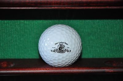 MGM Metro Goldwyn Mayer Logo Golf Ball. Titleist. Ball is in very good condition. Logo is clear. Impact mark on the right side of the ball--doesn't appear when logo is displayed. The ball pictured is