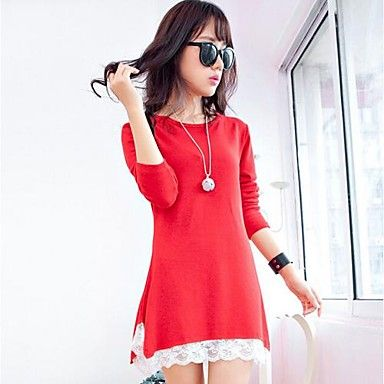 Women's Lace Loose Knit Sweater Dress(More Colors) - BRL R$ 46,99