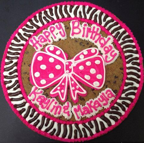 Cookie cake for Texarkana birthday at bounce a lot