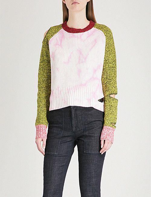 e343c797943 ZOE JORDAN Akar cutout wool and cashmere-blend jumper | Knitwear ...