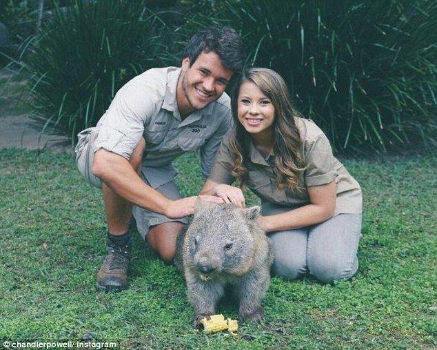 Bindi Irwin and Chandler Powell post Australia Day selfie | Daily Mail Online