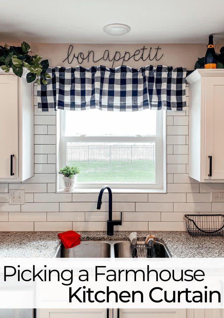 Black And White Farmhouse Kitchen Curtains