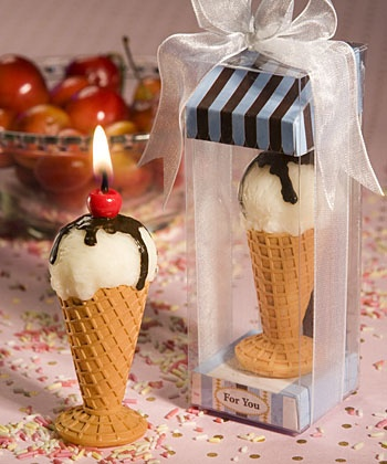 okay, technically not real food. By the way, don't try this with a regular ice cream cone. It doesn't work well.