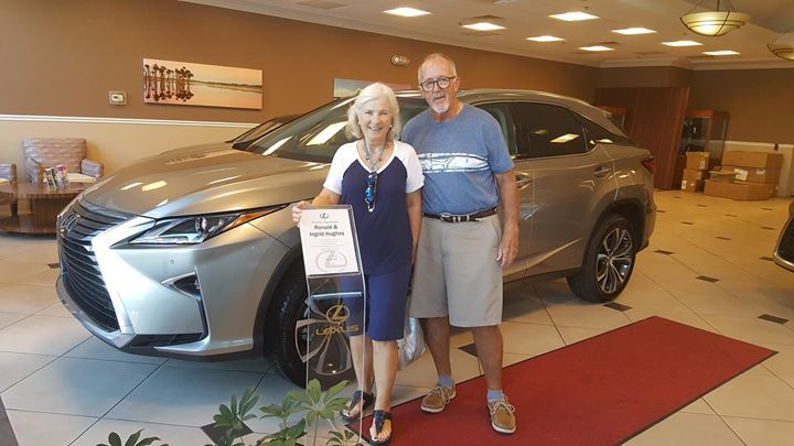 Congratulations to Mr. & Mrs. Hughes on their new 2017 #Lexus #RX350 from Lexus of Orange Park which they purchased with our Team Member Karen! Thanks for being part of the Fields Auto Group family. #Lexus
