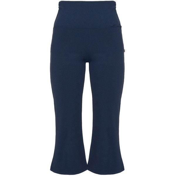 State of Mind Blue Plus Size Cropped sports jersey trousers ($50) ❤ liked on Polyvore featuring activewear, activewear pants, blue, plus size, plus size activewear pants, plus size activewear, plus size sportswear, sports activewear and blue jersey