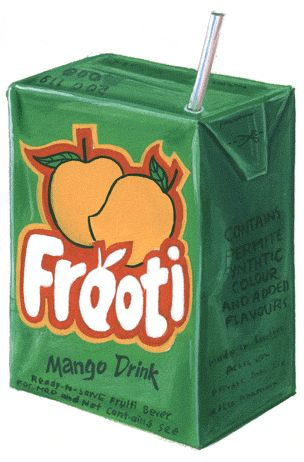 Mango Frooti. Reminds me of my childhood when I used to visit my grandparents in Mumbai.