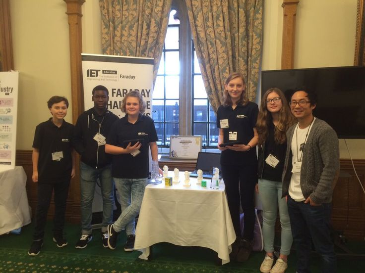 The Faraday champions from @uvhs are in Westminster to help launch #ietskills survey 2015