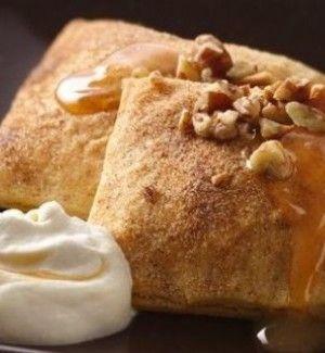 Pumpkin Ravioli With Salted Caramel Whipped Cream