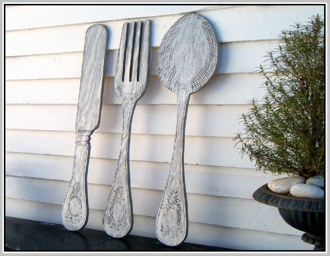 Large Knife Fork And Spoon Wall Decor : Best images about chickadee on carafe