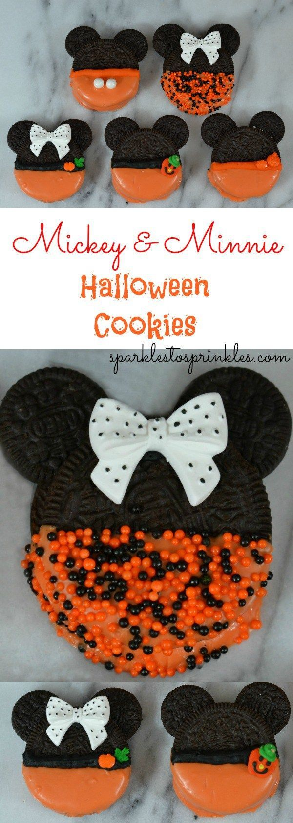 If you are like me, you have seen and have fallen in love with Living Locurto's Mickey & Minnie Mouse Christmas Cookies. They have to be the most adorable Mickey & Minnie creation ever! You can clearly see that my Mickey & Minnie Halloween Cookies are a