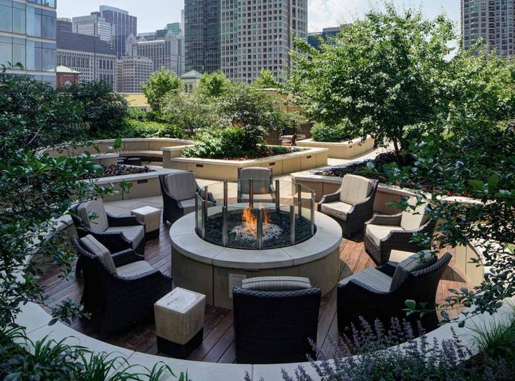 Take A Seat By The Rooftop Fire Pit With One Of The Best Views In River North River North Amli River North Chicago Apartment