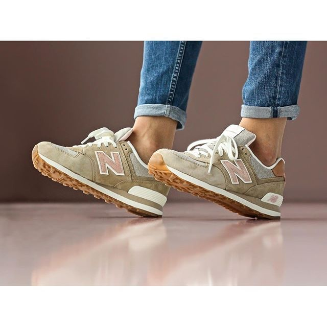 "New Balance womens WL574BCA ""Sandstorm"" is now available at our store. Retro coastal motels and ..."
