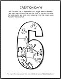 Bible Coloring Pages: Days of Creation Numbers (and lots more) mybiblelife.com