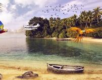 Tropical by Konrad Kasznia, via Behance