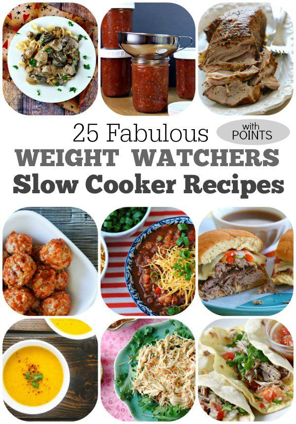 25 Weight Watchers Slow Cooker Recipes with points!