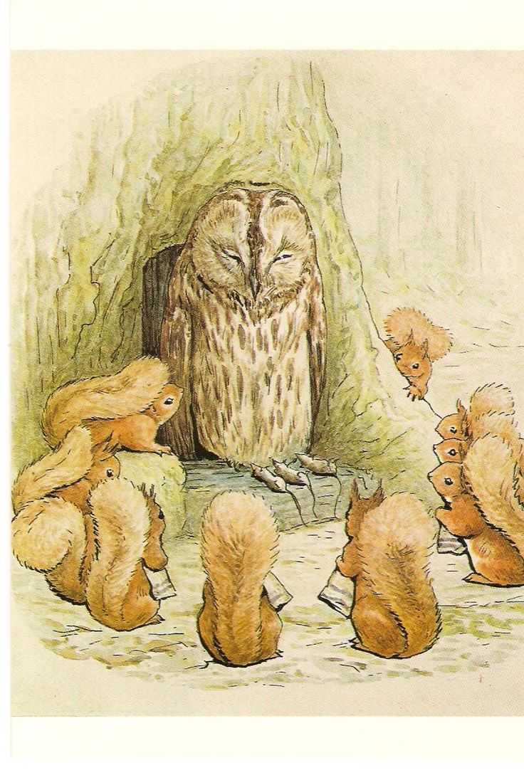 From the book The Tale of Squirrel Nutkin, written and illustrated by Beatrix Potter