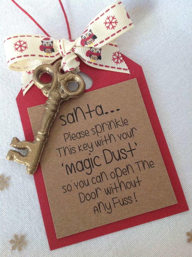Santas Magic Key..Handmade...Perfect if you don't have a chimney!! in Home, Furniture & DIY, Celebrations & Occasions, Christmas Decorations & Trees | eBay