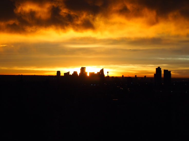 Calgary sunrise first day of Fall 2011