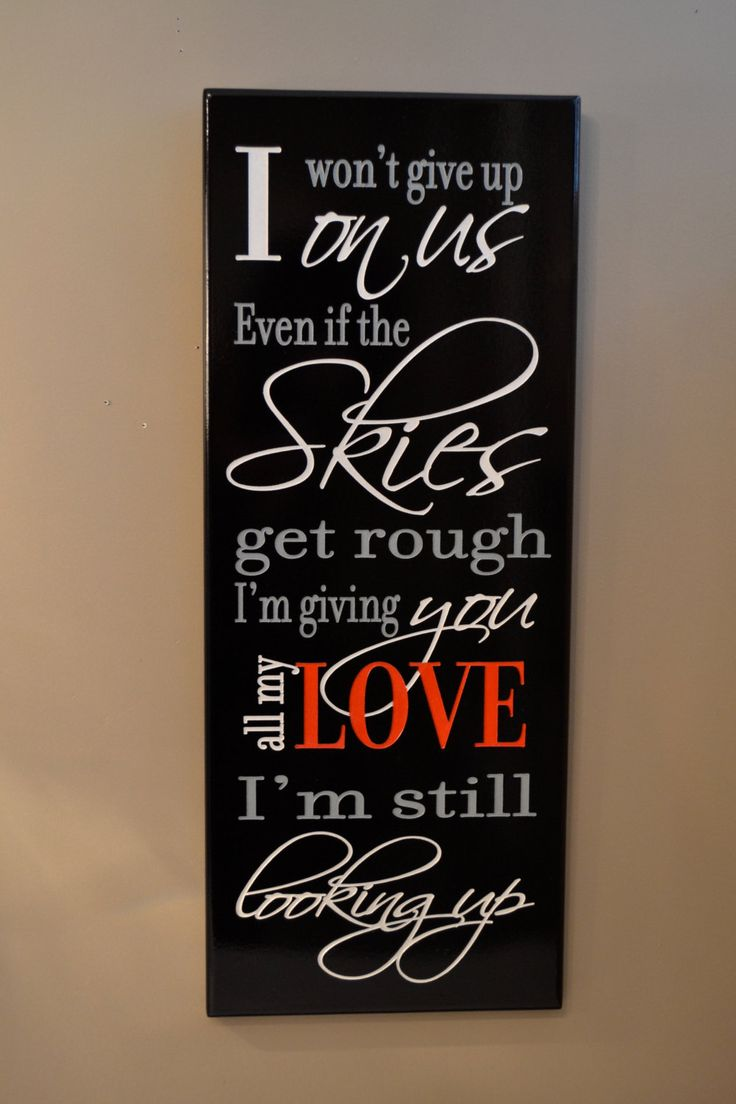 Personalized Love Quote Sign, Carved Painted Wood Plaque Customized Gift for Anniversary or Wedding.// via Etsy. CRSWoodDesigns