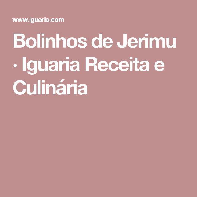 Bolinhos de Jerimu · Iguaria Receita e Culinária