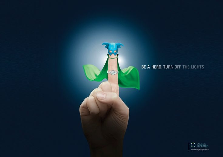 Be a hero. Turn off the lights. Energie Experten Ad by Publicis