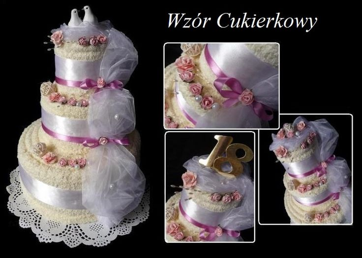 Tort Z 4 Duzych Recznikow Prezent Na Slub Rocznice Diaper Cake Cake Children
