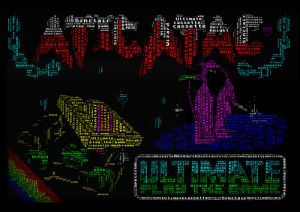 retro ZX spectrum atic atac word art