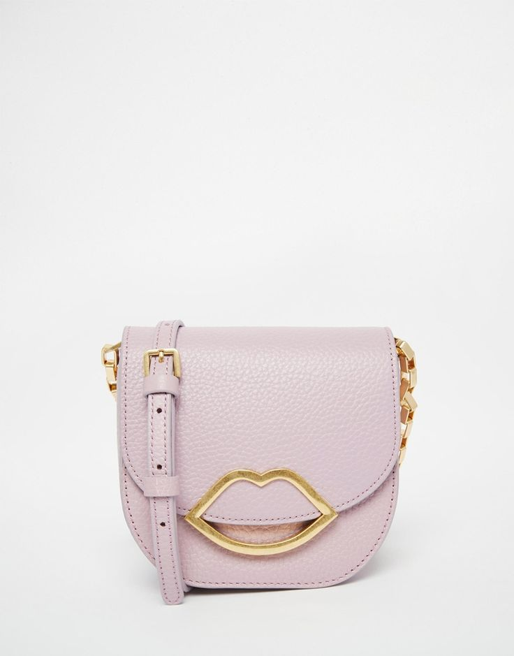 This Lulu Guinness bag would be a great tie in with the nude pink heels and the soft powder pink would compliment the delicate blue of the dress. It's also a little bit unusual with the gold lip detailing and is bound to turn some heads!