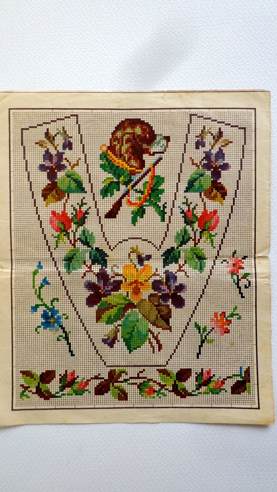 Antique Berlin Wool Work Woolwork Pattern by Pfirsichstrasse8, €45.00