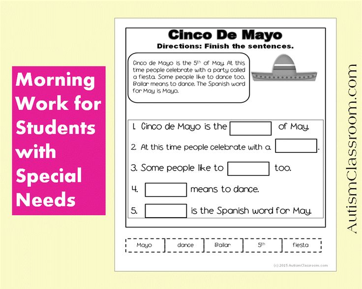 Classroom Ideas For Special Needs Students ~ Best images about special ed morning work on pinterest