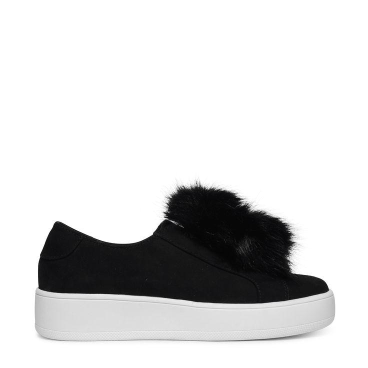 Steve Madden zwarte platform sneakers fluffy