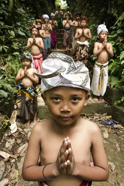 Abangan, Ubud, Bali, Indonesia - The Baris Dance members