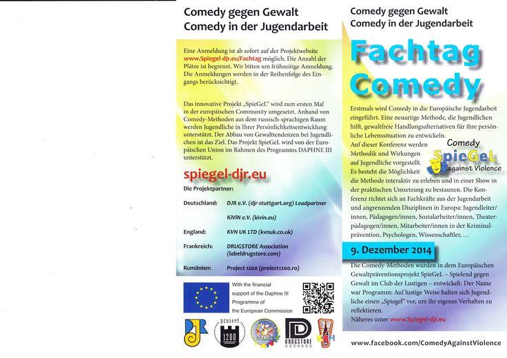 #Fachtag #Comedy in #Stuttgart 9. Dezember 2014!!!! #Gewaltprävention #Jugendarbeit