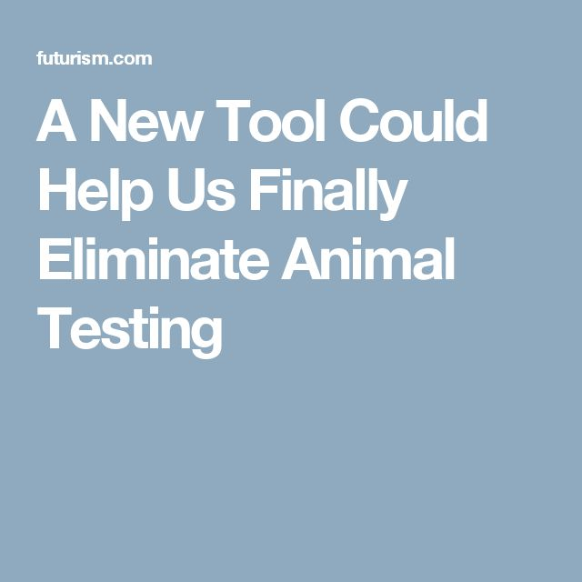 A New Tool Could Help Us Finally Eliminate Animal Testing