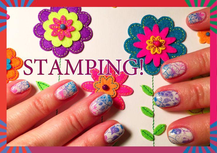 Стемпинг на Гель Лак с пластиной Born Pretty BPL-029.Stamping nail art.