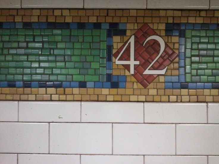 42nd Street sign on N Line