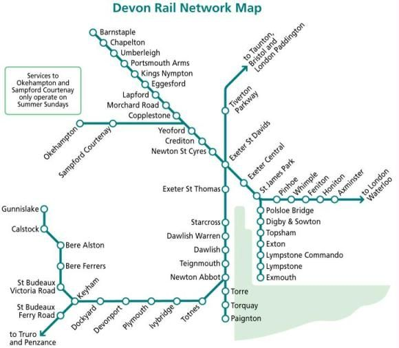 devon rail network map plymouth pinterest public. Black Bedroom Furniture Sets. Home Design Ideas