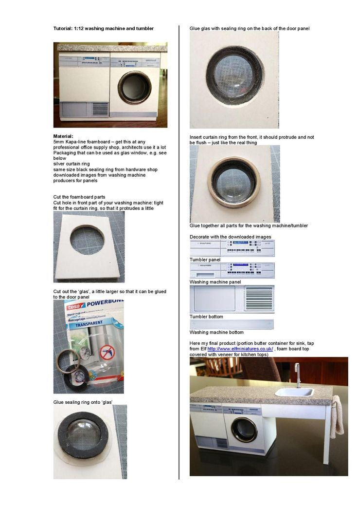 Miniature washing machine tutorial, how to