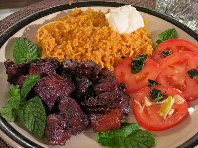 Невыразимая легкость кулинарного бытия...: Афелия (свинина в красном вине по-кипрски)