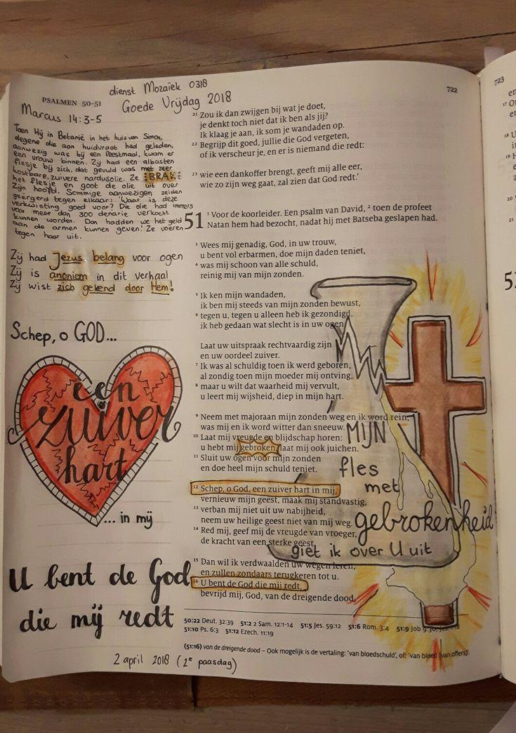 Psalm 51 Bible Journaling Mijn Gebrokenheid Zijn