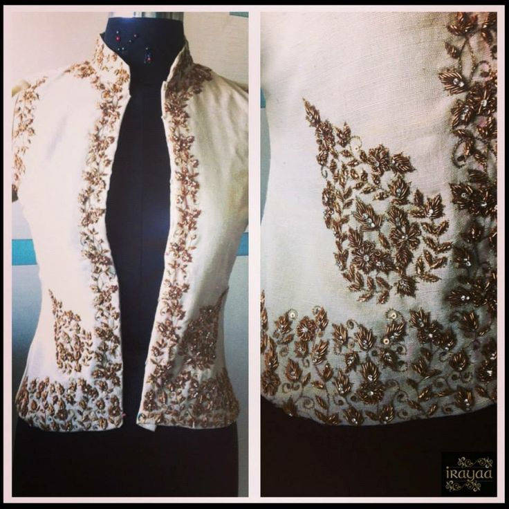 Jacket blouse for multipurpose use - Beautiful Embroidery!