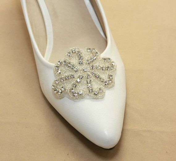 A Pair  Bridal Shoe ClipsWedding Shoe clips Bridal by BlingGarden