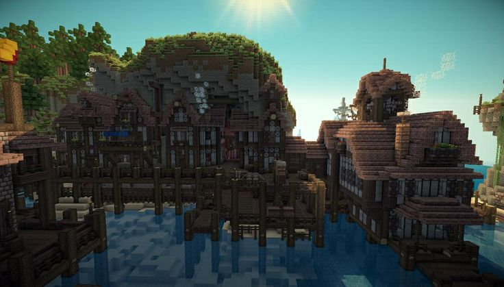 how to build a town in minecraft