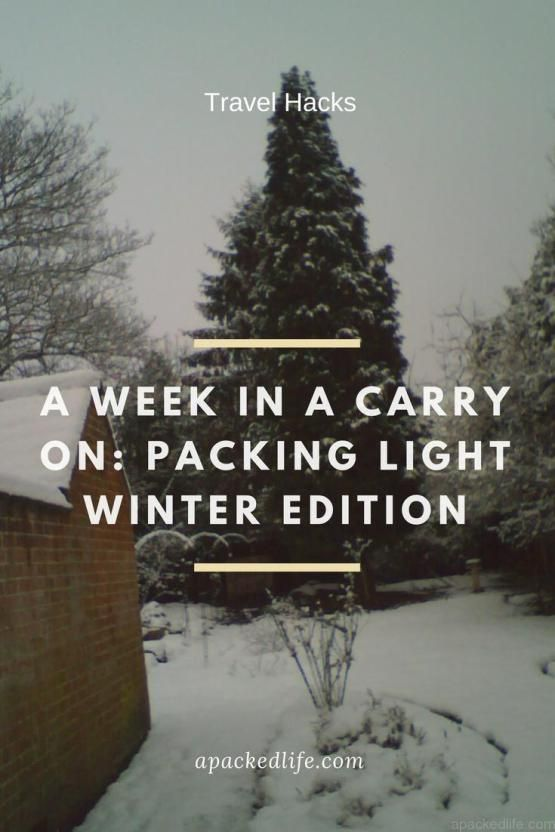 Packing light winter edition. How to make the most of your carry on baggage for a winter trip. We wrangle the essentials for a week in the cold. Travel hacks. Packing light. Making the most of your baggage allowance.