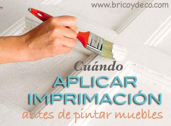 Cuándo aplicar imprimación antes de pintar muebles en www.bricoydeco.com