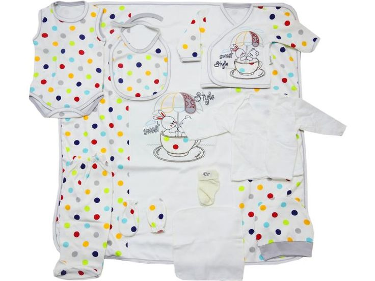 L-9032 Wholesale rabbit printed colourfully baby newborn set 10 pieces in package, wholesale newborn set, wholesale newborn set for baby, wholesale baby newborn set, wholesale baby clothes newborn sets cheap and qualit clothes.