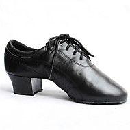 calcanhares+dos+homens+latino-couro+salto+robusto+com+sapatos+lace-ups+de+dança+–+EUR+€+147.00