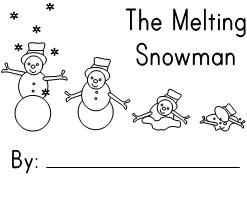 Melting Snowman Emergent Reader from Making Learning Fun