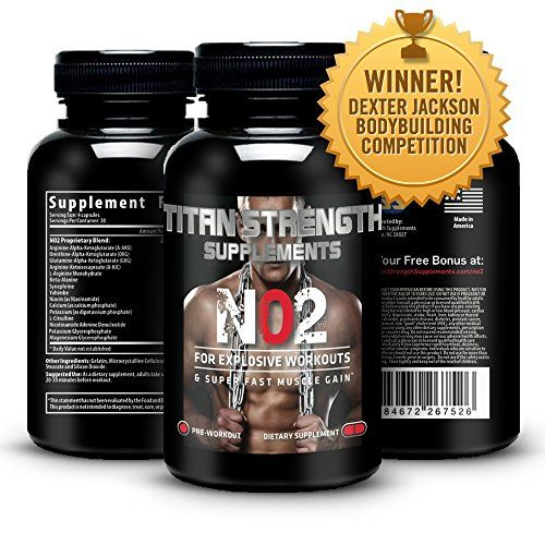 Amazon.com: Top NO2 Nitric Oxide Booster 120 Capsules. Competition Winning. Muscle Building NO2 Supplement + L-Arginine. Gives Muscle Building Workouts + Increase Workout Endurance. Guaranteed Most Effective Muscle Building with 30 Day 'Happy Customer' GUARANTEE from Titan Strength Supplements. RECOMMENDED & USED BY WINNER Dexter Jackson Classic Memphis TN and Winner Music City Muscle Nashville TN: Health & Personal Care